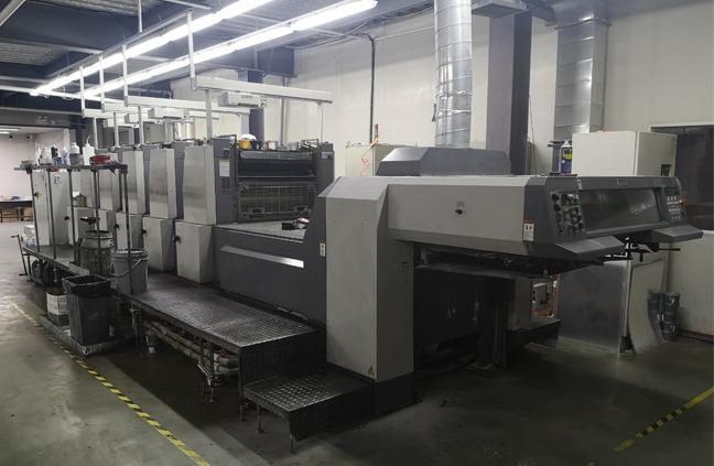 日本良明750四开五色高速印刷机